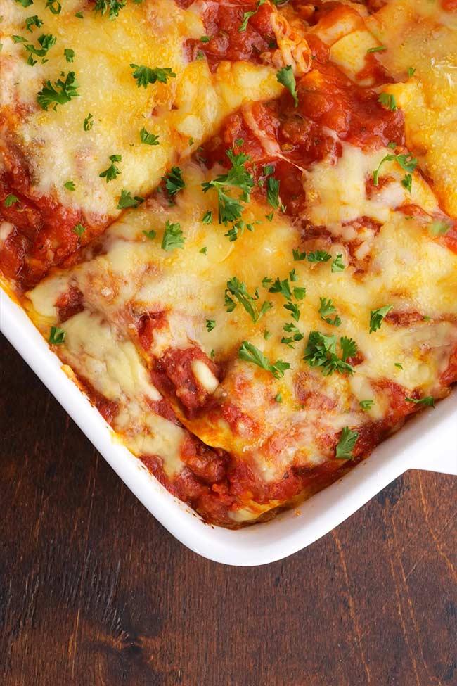 Chicken Parmesan Lasagna Casserole Pan