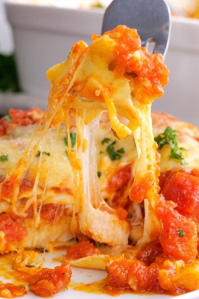 Easy Chicken Parmesan Lasagna