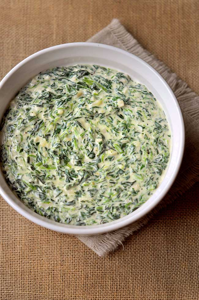 Easy Homemade Creamed Spinach