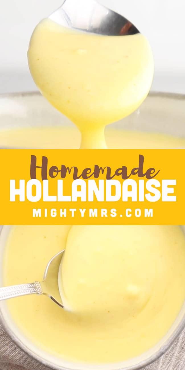 Easy Homemade Hollandaise Sauce