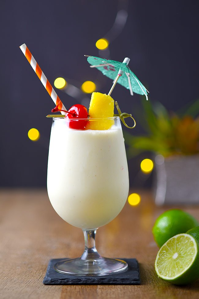 Easy Piña Colada Recipe - Perfect for a Luau themed party! Simple and delicious recipe.