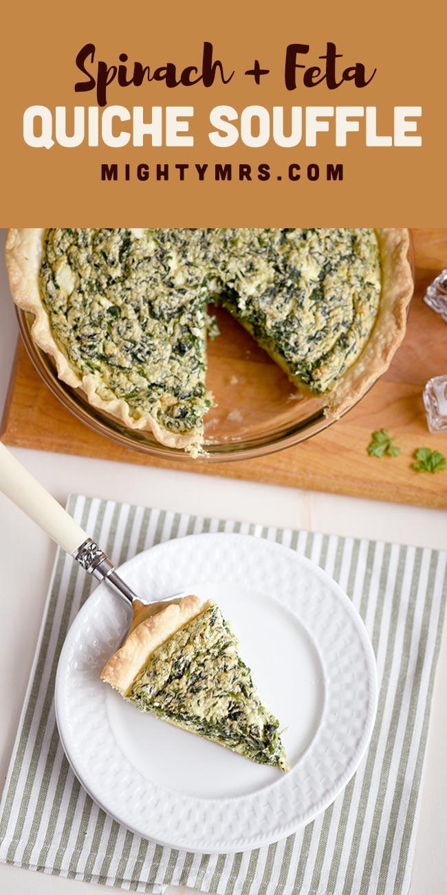 Spinach and Feta Quiche Souffle