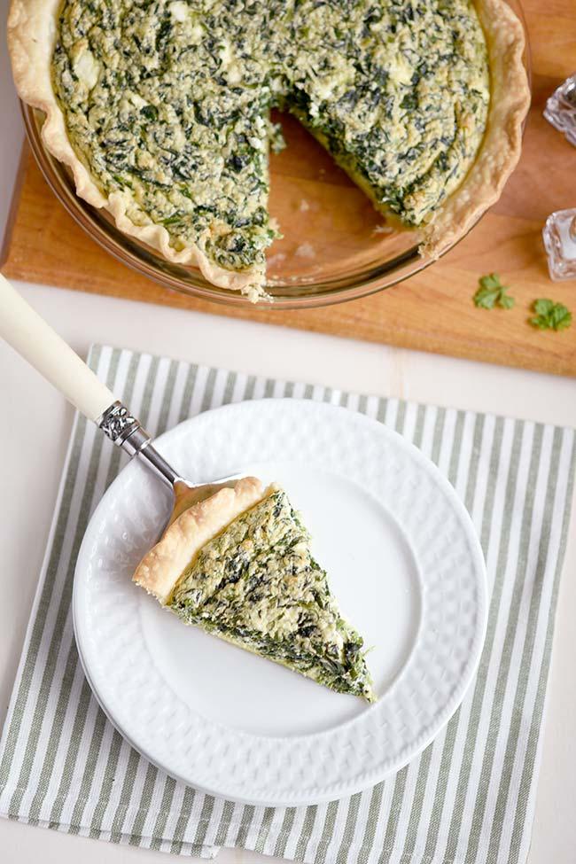 Easy Spinach Feta Quiche Souffle