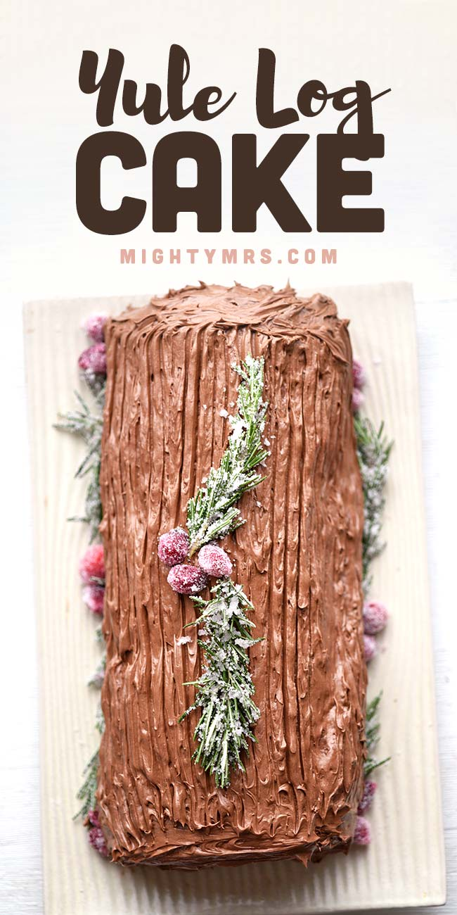 Easy Cake Mix Yule Log