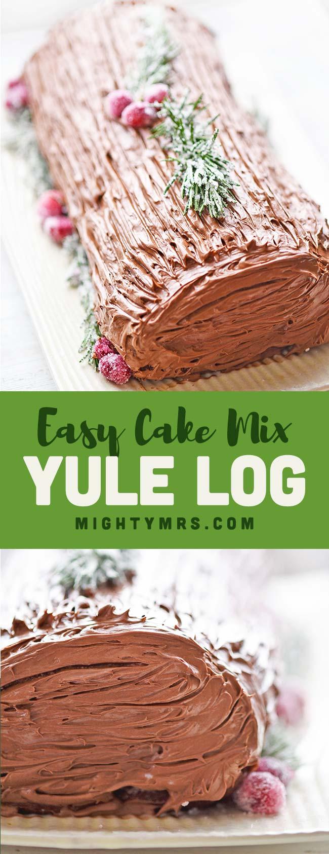 Easy Yule Log Recipe Using Cake Mix