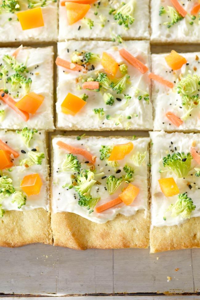 Everything Bagel Veggie Pizza