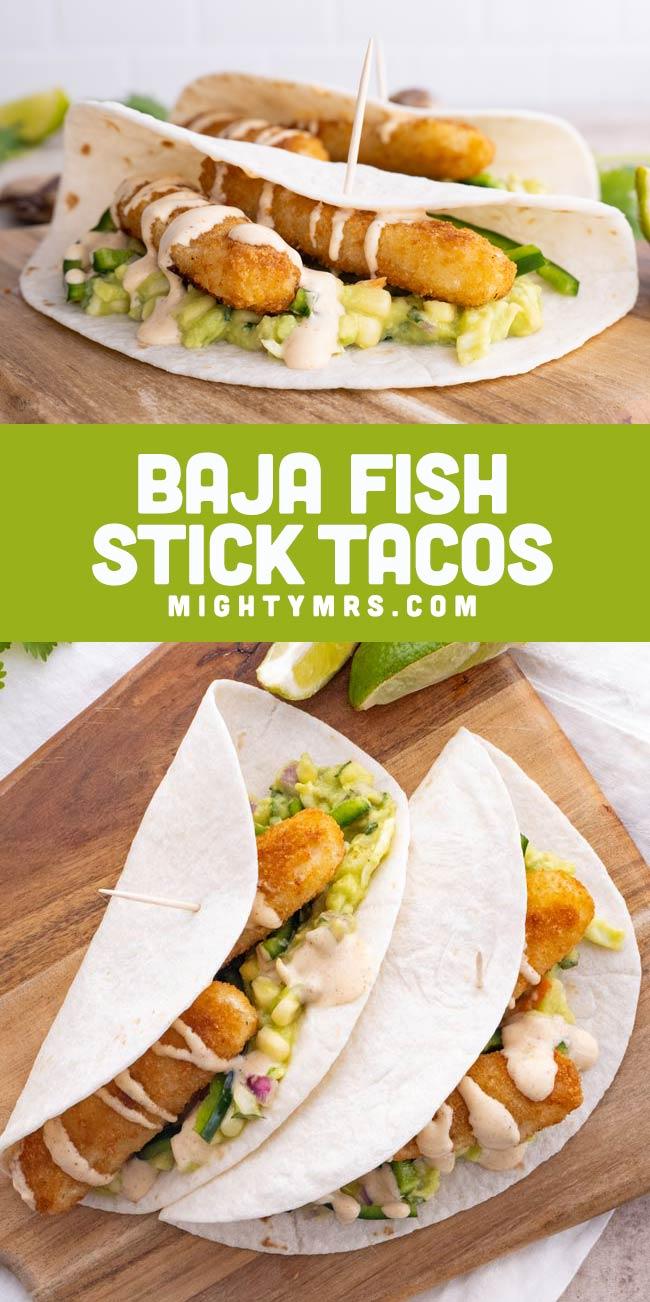 Easy Baja Fish Stick Tacos