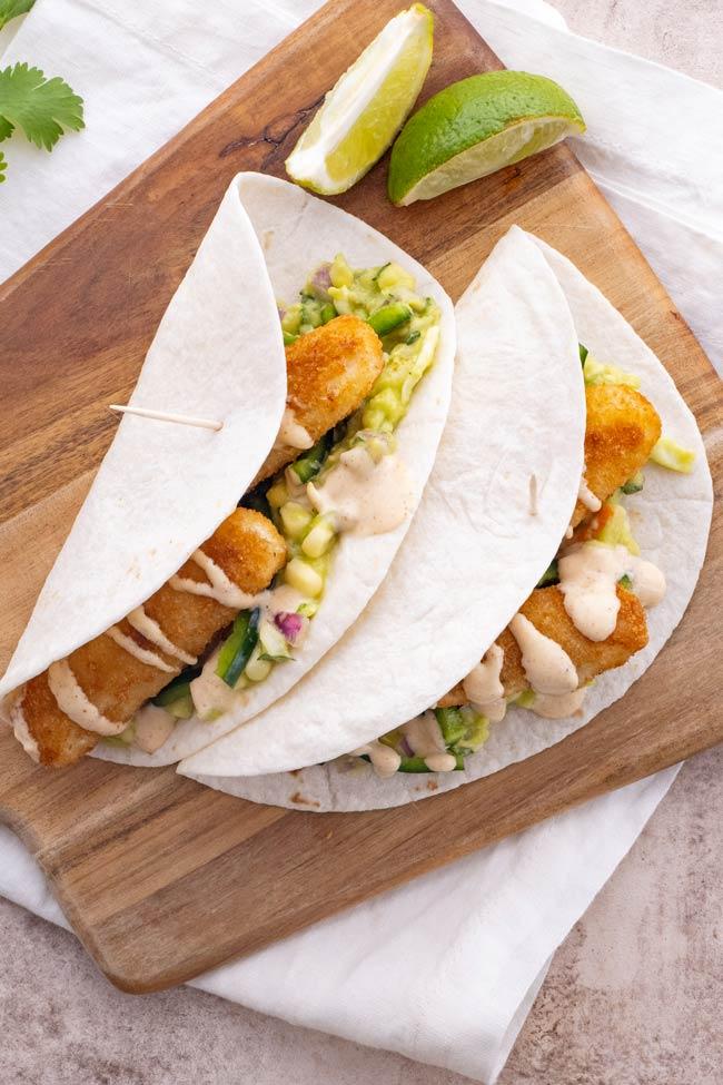 Easy California Fish Stick Tacos