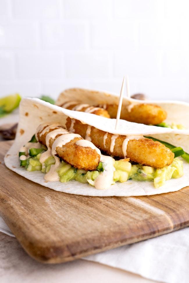 Baja Fish Stick Tacos
