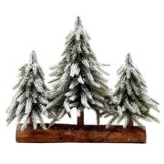 Flocked Pine Trees - Table Top