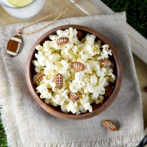 Almond Footballs and Kettle Corn for the Big Game!