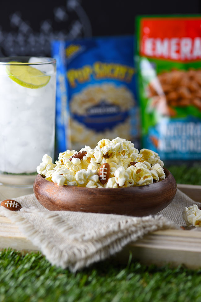 Football Almonds and Kettle Corn for the Big Game!