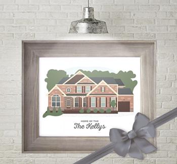 House Portrait Housewarming Gift