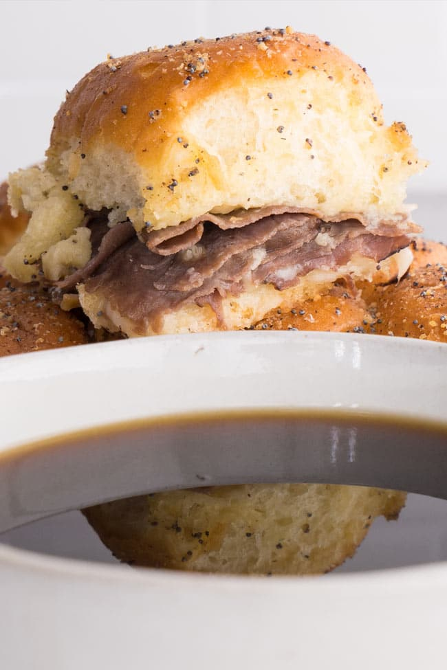 French Dip Sliders Au Jus