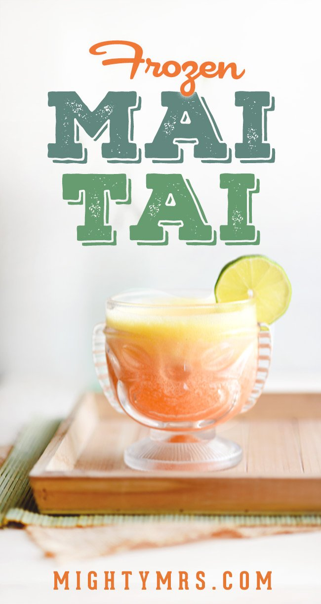 Frozen Pineapple Mai Tai