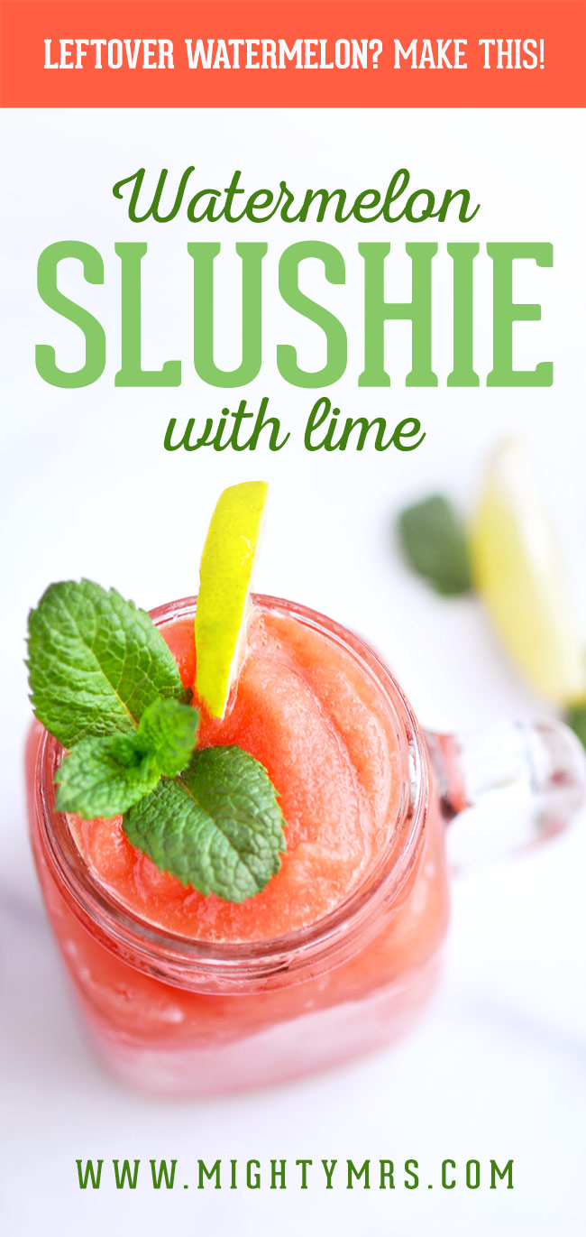 Frozen Watermelon Lime Slushies