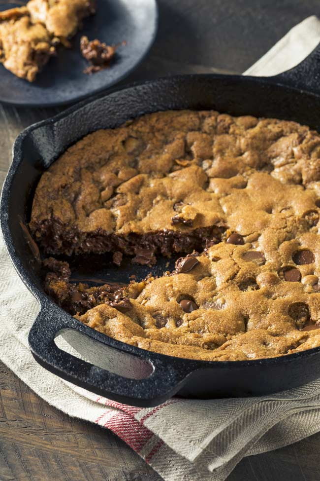 Giant Cast Iron Skillet Cookie