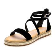 Strappy Black Gladiator Sandals