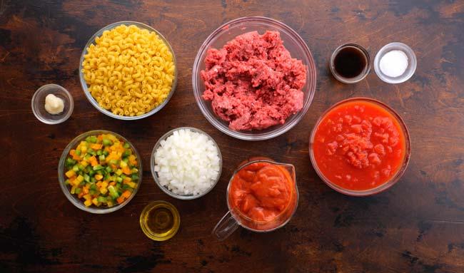 American Goulash Ingredients