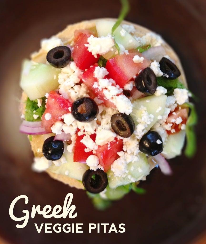 Greek Pita Sandwich Greek Veggie Pita Sandwich