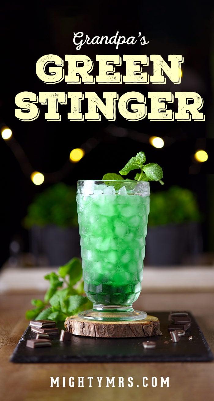 Green Stinger Cocktail
