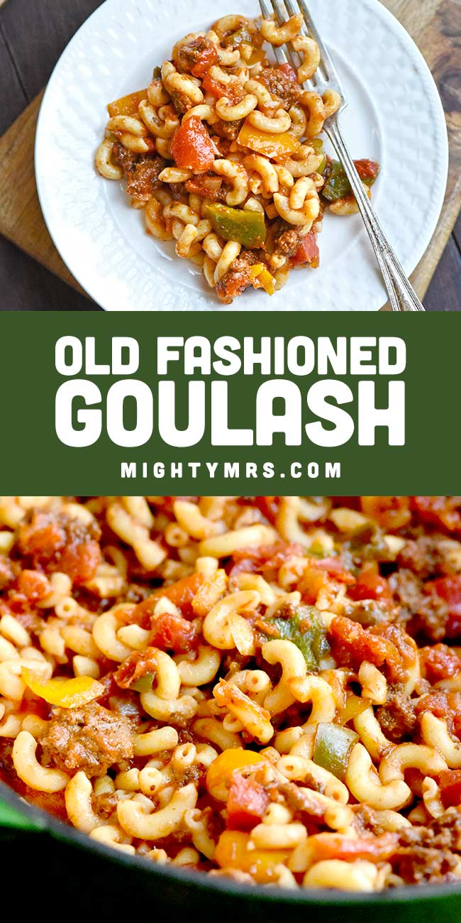 Old Fashioned Ground Beef Goulash