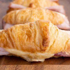 Ham and Cheese Croissant Melt Sandwich