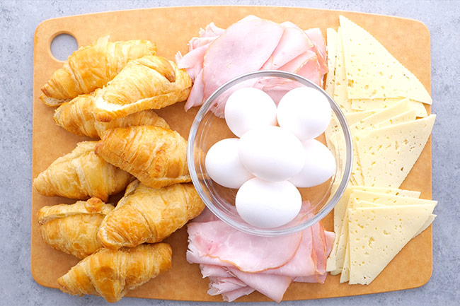 Ham and Cheese Croissant Sandwich Ingredients