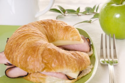 Ham and Cheese Croissant Melts
