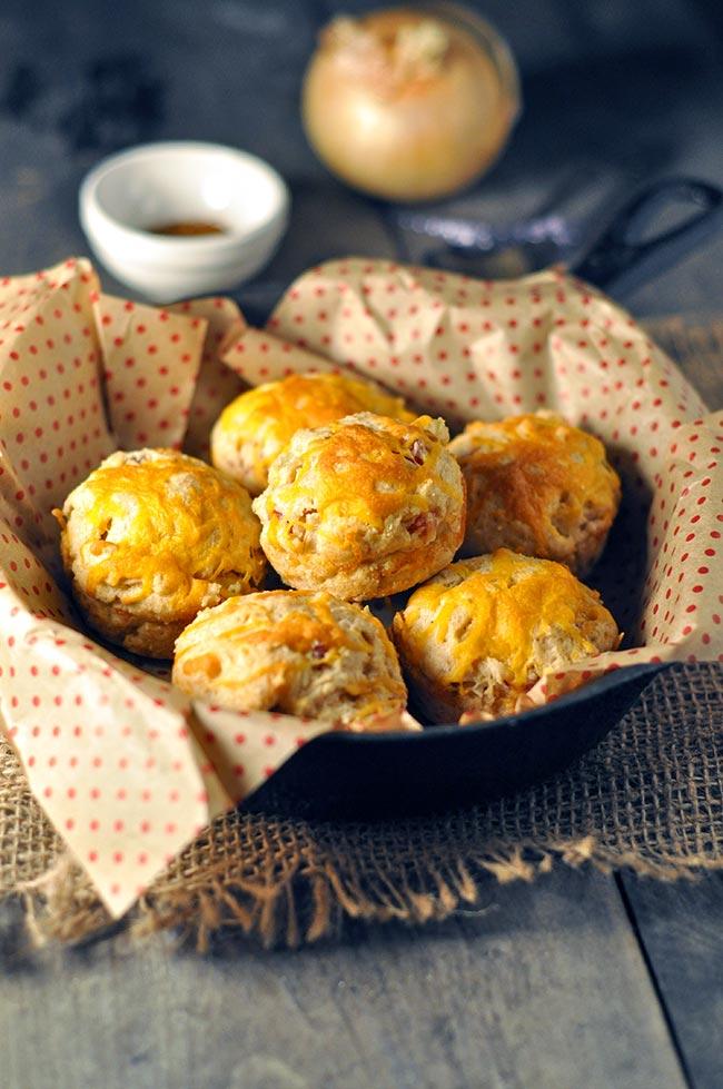 Healthy Cajun Ham and Cheddar Biscuits