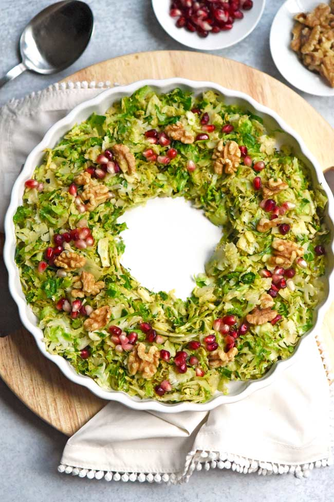 Festive Shredded Brussels Sprouts