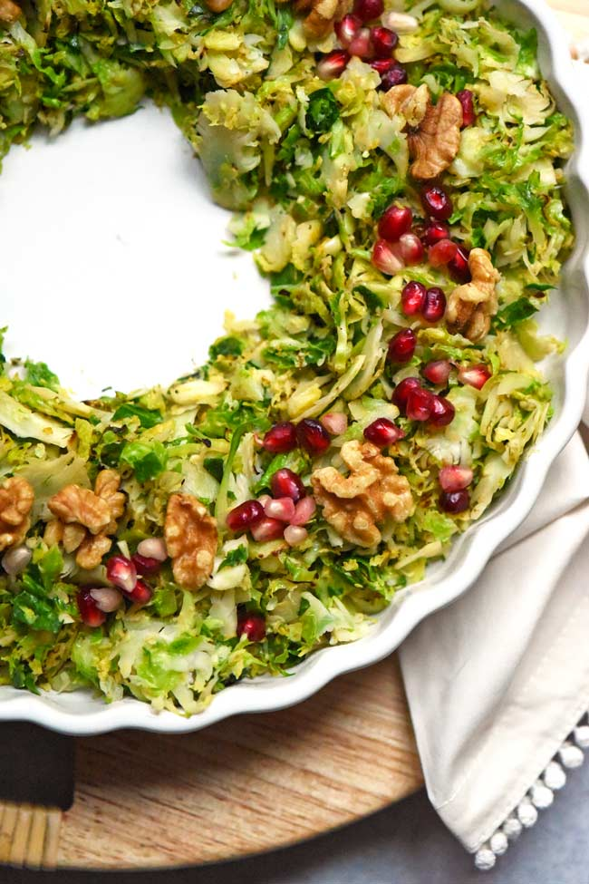 Christmas Shredded Brussels Sprouts Wreath