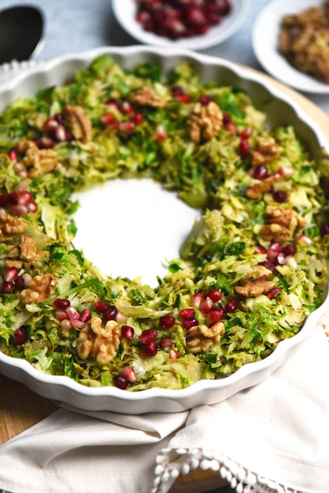Holiday Shredded Brussels Sprouts Wreath
