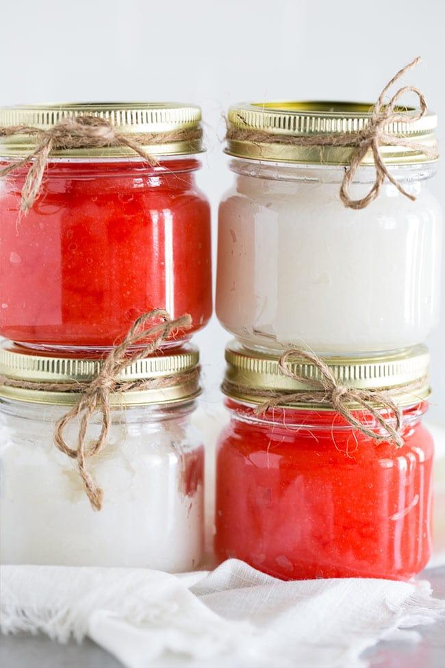 Homemade Sugar Scrubs Mason - Candy Cane