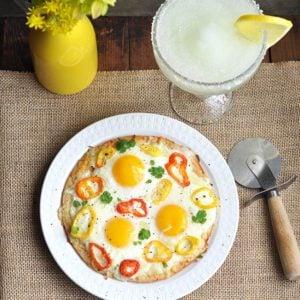 Sunny-side Up Hot Pepper Breakfast Pizza