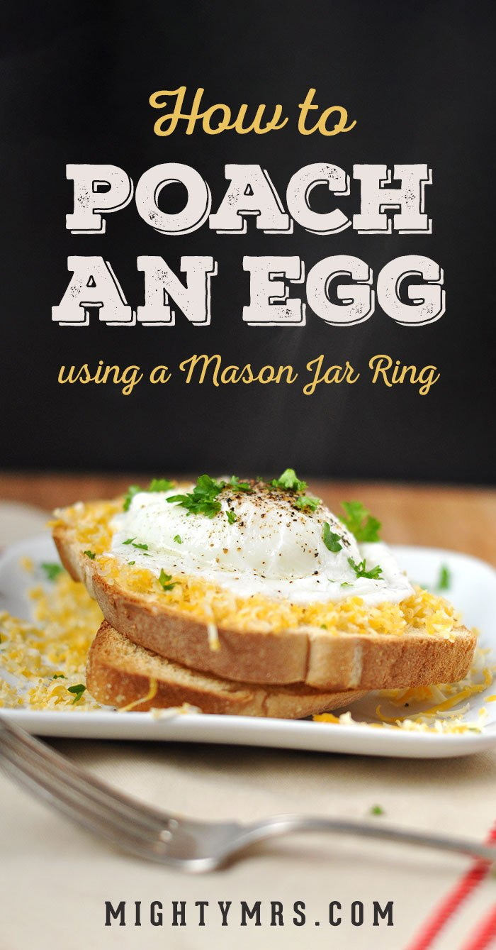 How to poach an egg using a Mason jar ring
