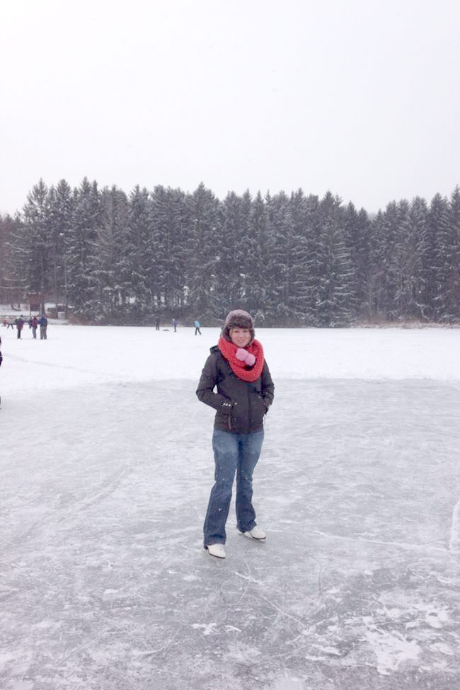 Wellsboro Pennsylvania Ice Skating Lake