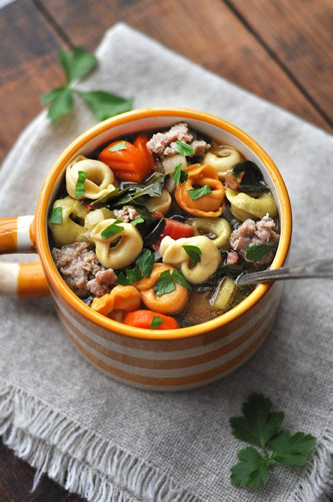 http://www.mightymrs.com/recipe-items/italian-sausage-tortellini-soup/