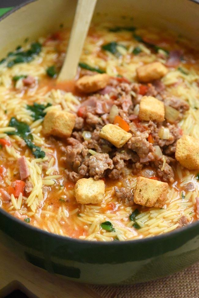 Meaty Italian Sub Soup