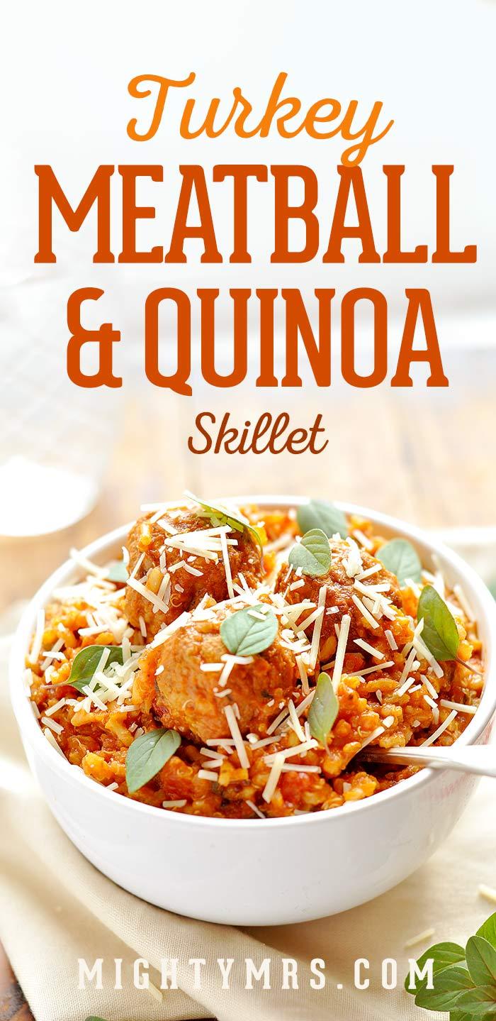 Turkey Meatball Skillet with Quinoa