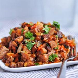 Kielbasa Sweet Potato Hash