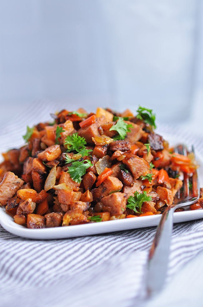 Kielbasa Sweet Potato Hash