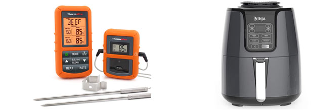 Kitchen Tools - Cooking thermometer and Air Fryer