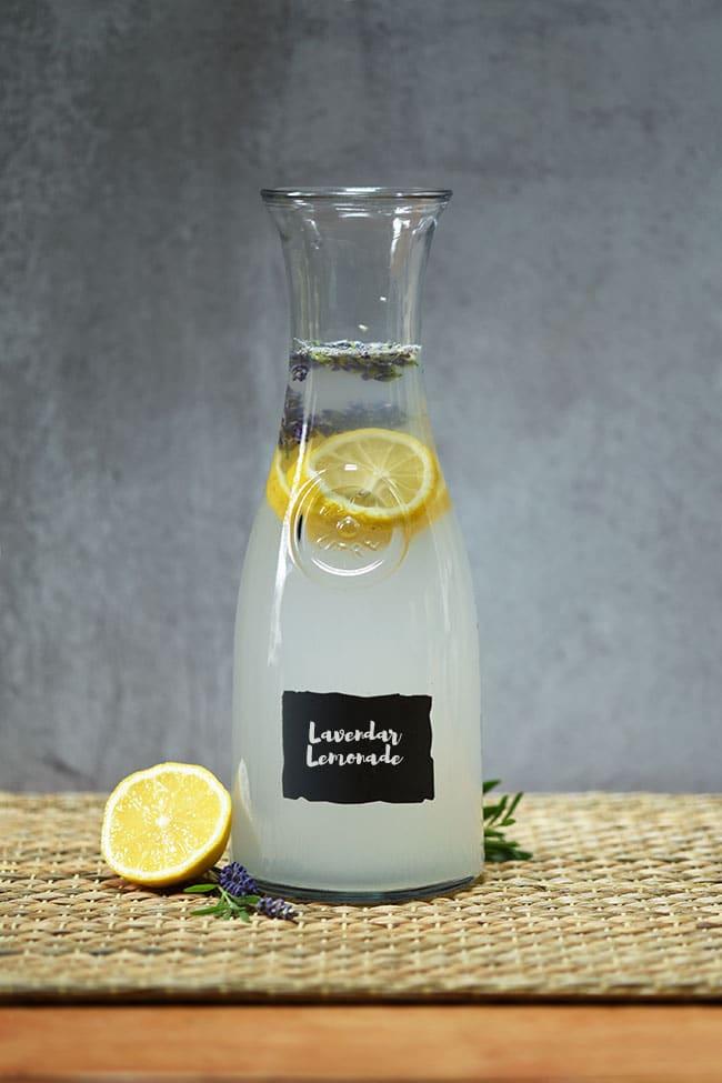 Easy Lavendar Lemonade Agua Fresca
