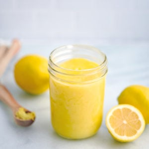 Low Sugar Lemon Curd Topping