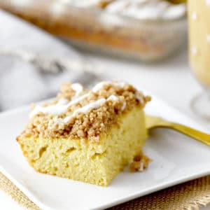 Lightened Up Coffee Cake - 3 swaps to lighten up your homemade coffee cake