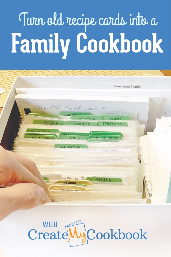 How to Make a Family Cookbook - Turn your old recipe cards into a cookbook