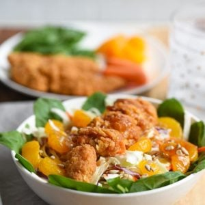 Mandarin Orange Chicken Spinach Salad