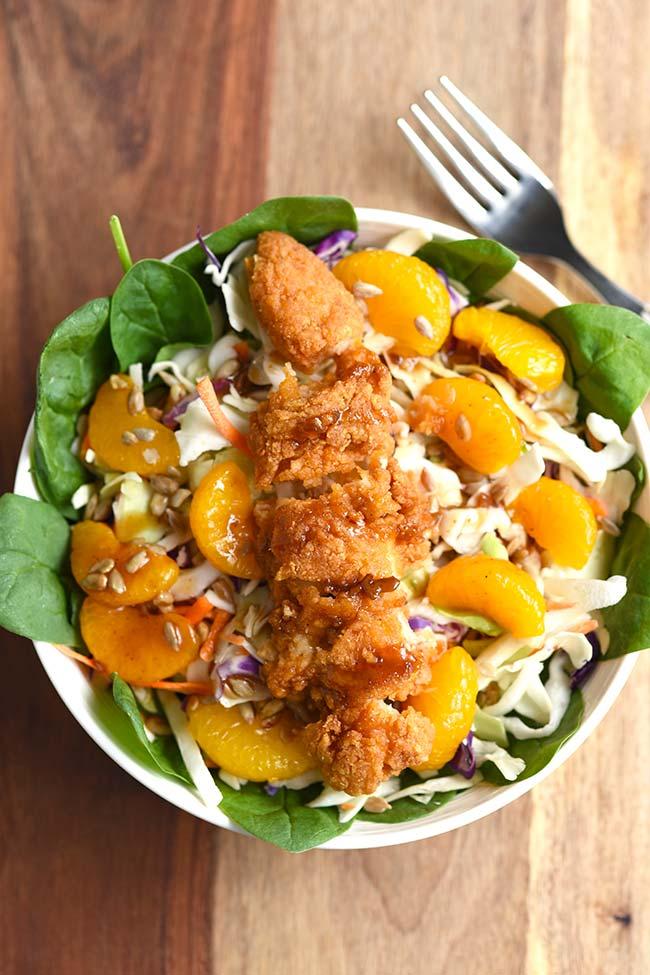 Mandarin Orange Chicken Spinach Salad