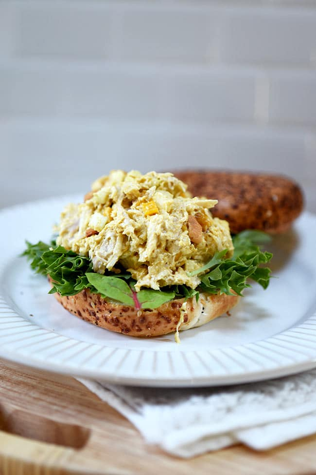 Easy Curried Chicken Salad with Mango and Cashews